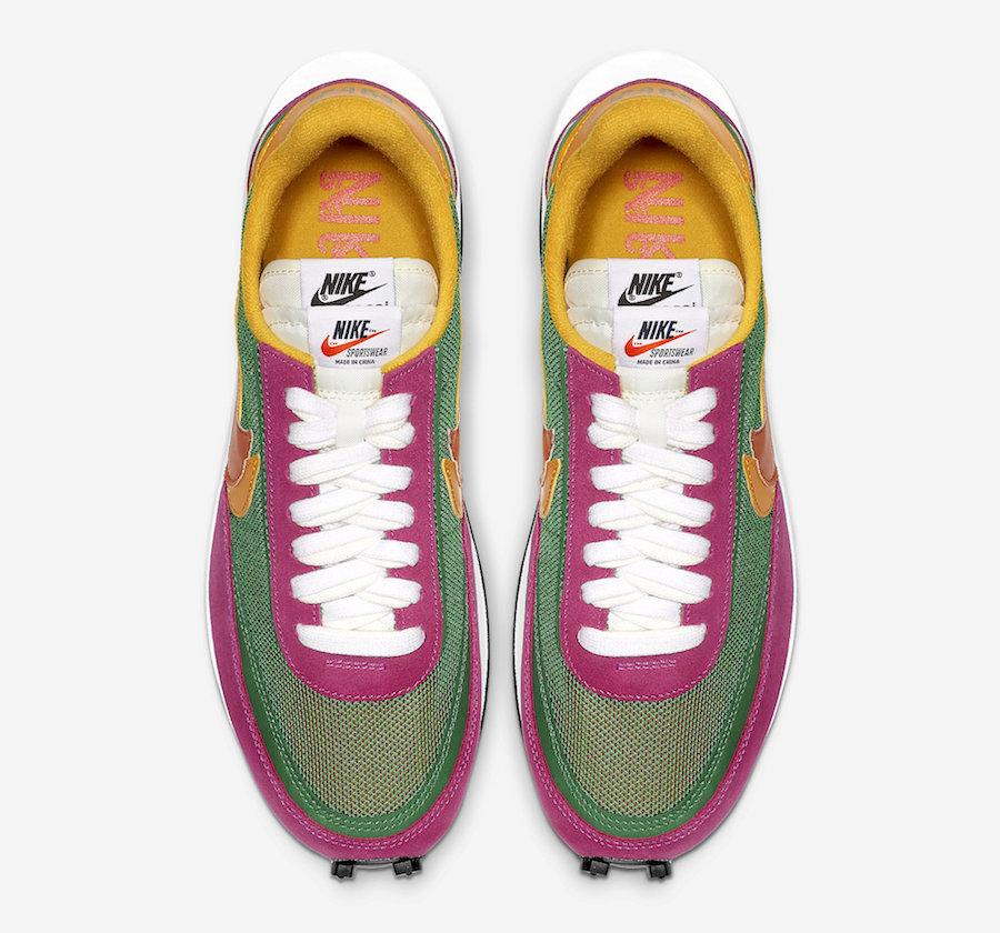sacai Nike LDWaffle Pine Green Clay Orange Del Sol BV0073-301 Release Date Info