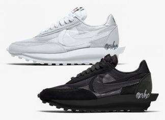 Sacai Nike LDWaffle Triple Black Triple White 2020 Release Date