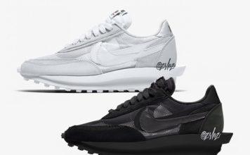 Sacai Nike LDWaffle Black BV0073 002 White BV0073 101