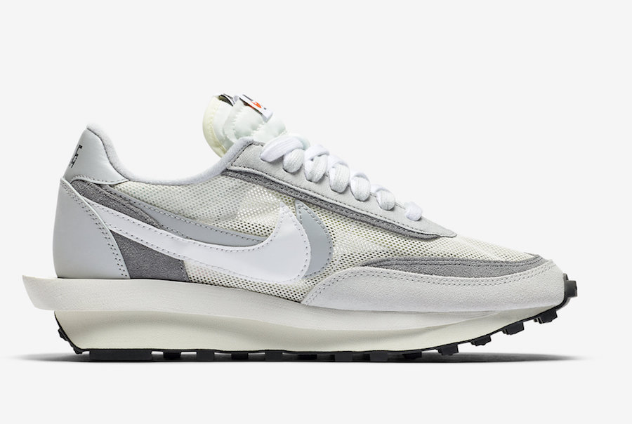 sacai Nike LDWaffle White Wolf Grey Black BV0073-100 Release Date Info