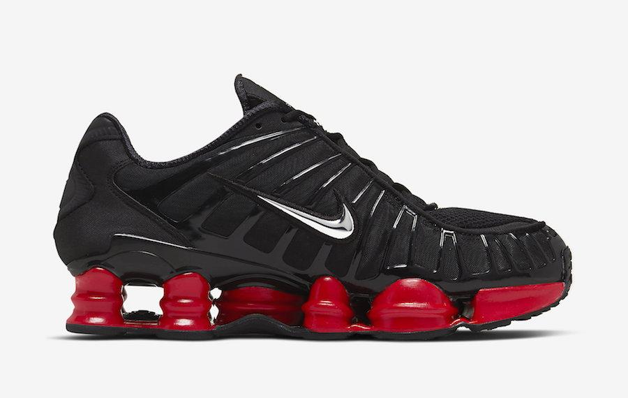 Skepta Nike Shox TL Black Metallic Silver University Red CI0987-001 Release Date