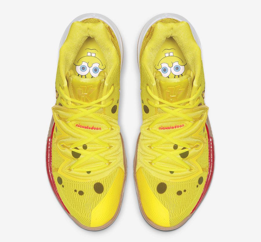 SpongeBob SquarePants Nike Kyrie 5 SpongeBob CJ6951-700 Release Date Info