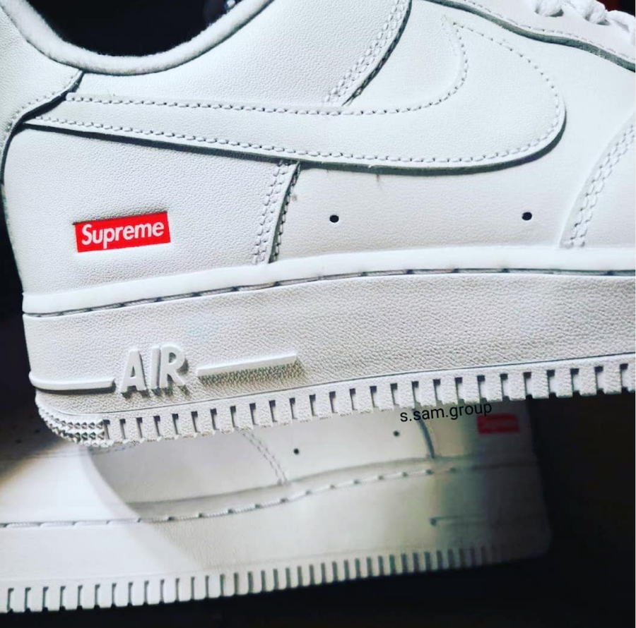 Supreme Nike Air Force 1 Low White CU9225-100 Release Date