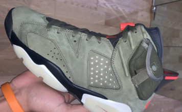 Travis Scott Air Jordan 6 Medium Olive Black Sail University Red CN1084-200 Release Info