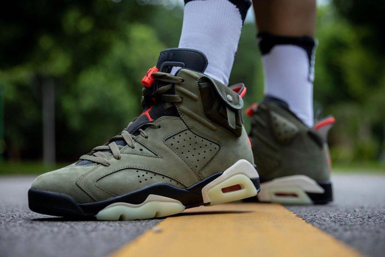 Travis Scott Air Jordan 6 On Feet Release Info CN1084-200