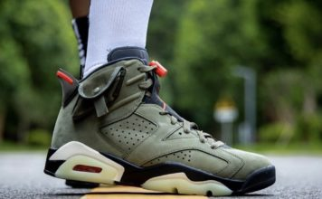Travis Scott Air Jordan 6 On Feet Release Info CN1084-200