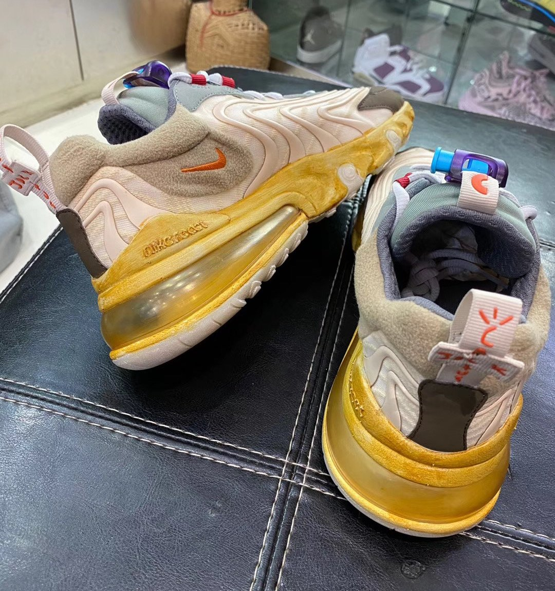 Travis Scott Nike Air Max 270 React CT2864-200 Release Date