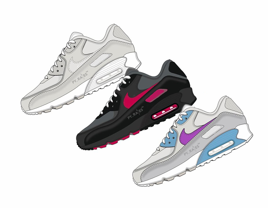 pretty nice 9b3f1 9099d Undefeated Nike Air Max 90 2020 Collection Release Date Info ...