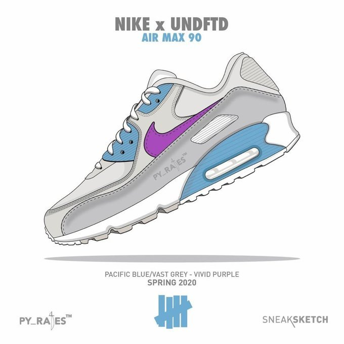 Undefeated Nike Air Max 90 Pacific Blue Vivid Purple Release Date Info