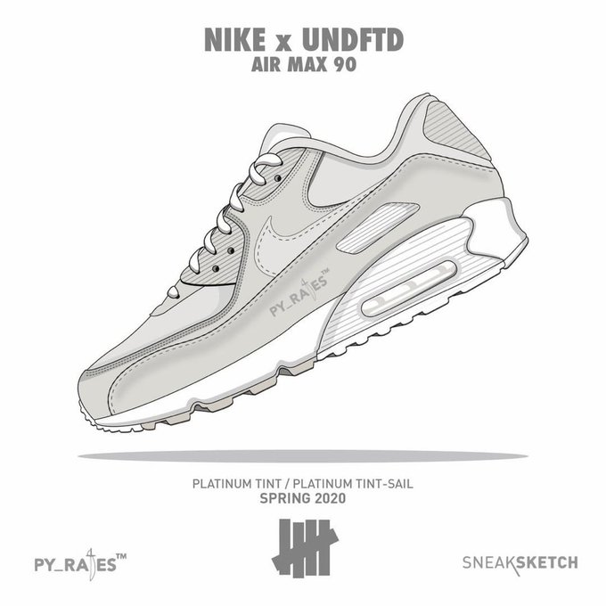 Undefeated Nike Air Max 90 Platinum Tint Release Date Info