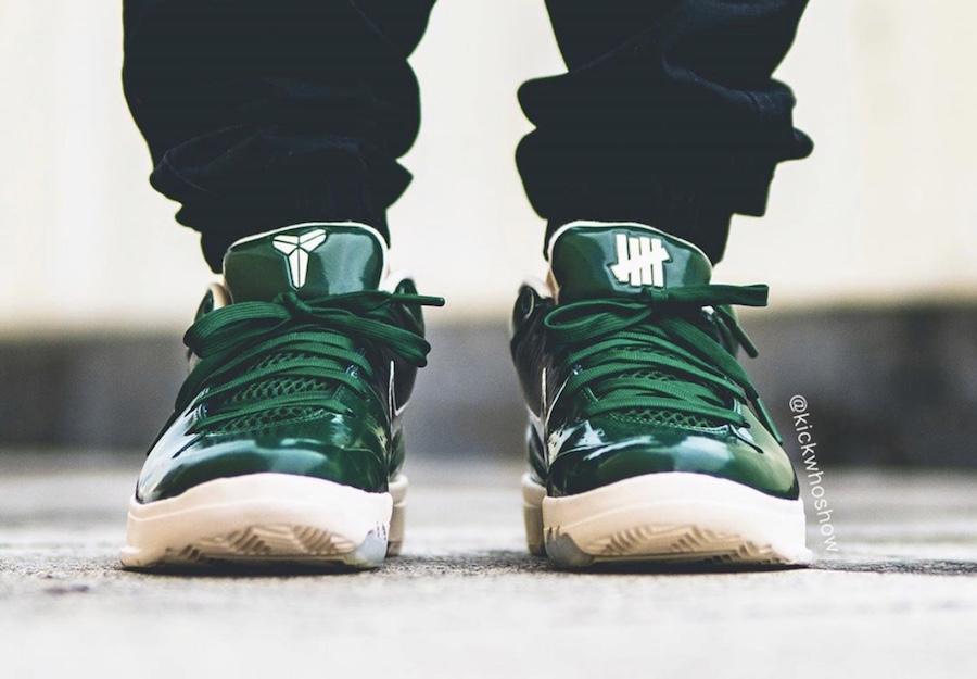Undefeated Nike Kobe 4 Protro Dark Green Bucks CQ3869-301 Release Date