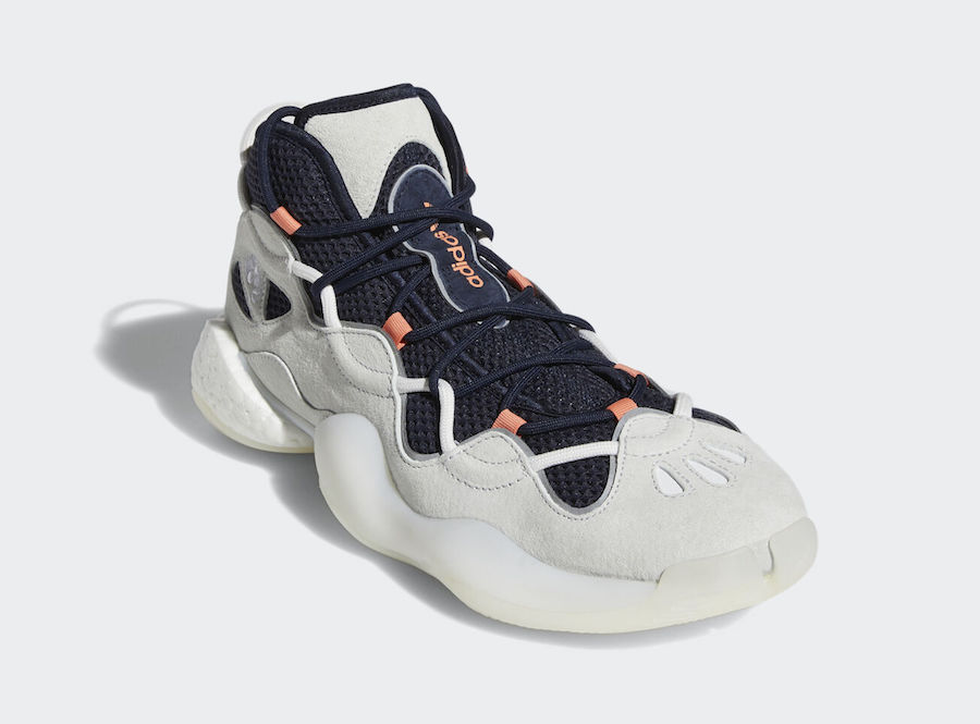 adidas Crazy BYW 3 III White Legend Ink Coral EE7961 Release Date Info