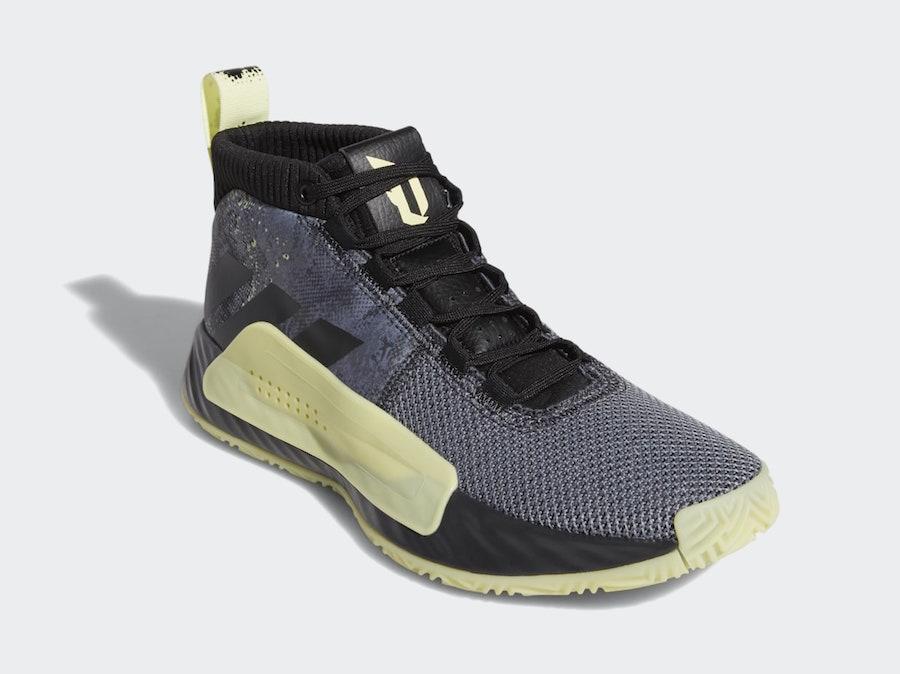 adidas Dame 5 Grey Black Yellow F36933