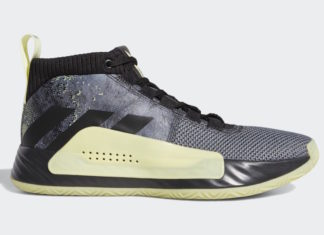 adidas Dame 5 Grey Black Yellow F36933 Release Date Info