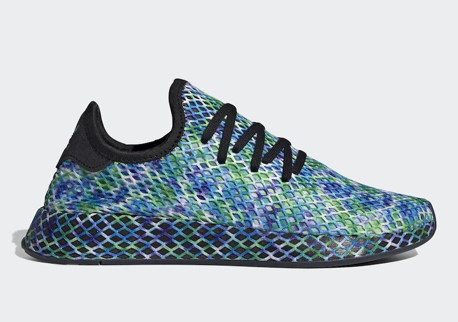 adidas Deerupt Runner Aqua Tie-Dye Print EE5671 Release Date Info
