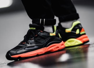 adidas LXCON 94 Black Neon Solar Red EE6257 Release Date Info