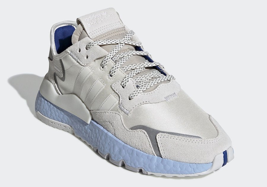 adidas Nite Jogger Grey Silver Blue Boost EE5910 Release Date Info