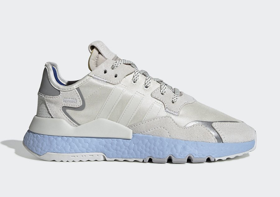adidas Nite Jogger Grey Silver Blue Boost EE5910 Release