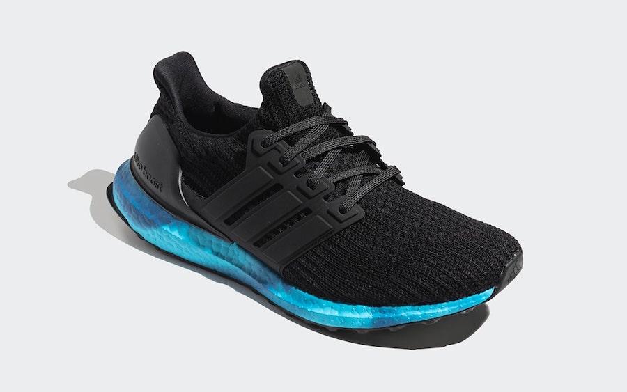 adidas Ultra Boost Black Blue FV7281 Release Date Info