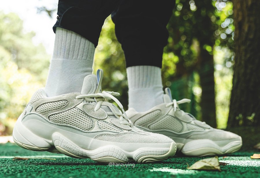 adidas Yeezy 500 Bone White FV3573 On Feet