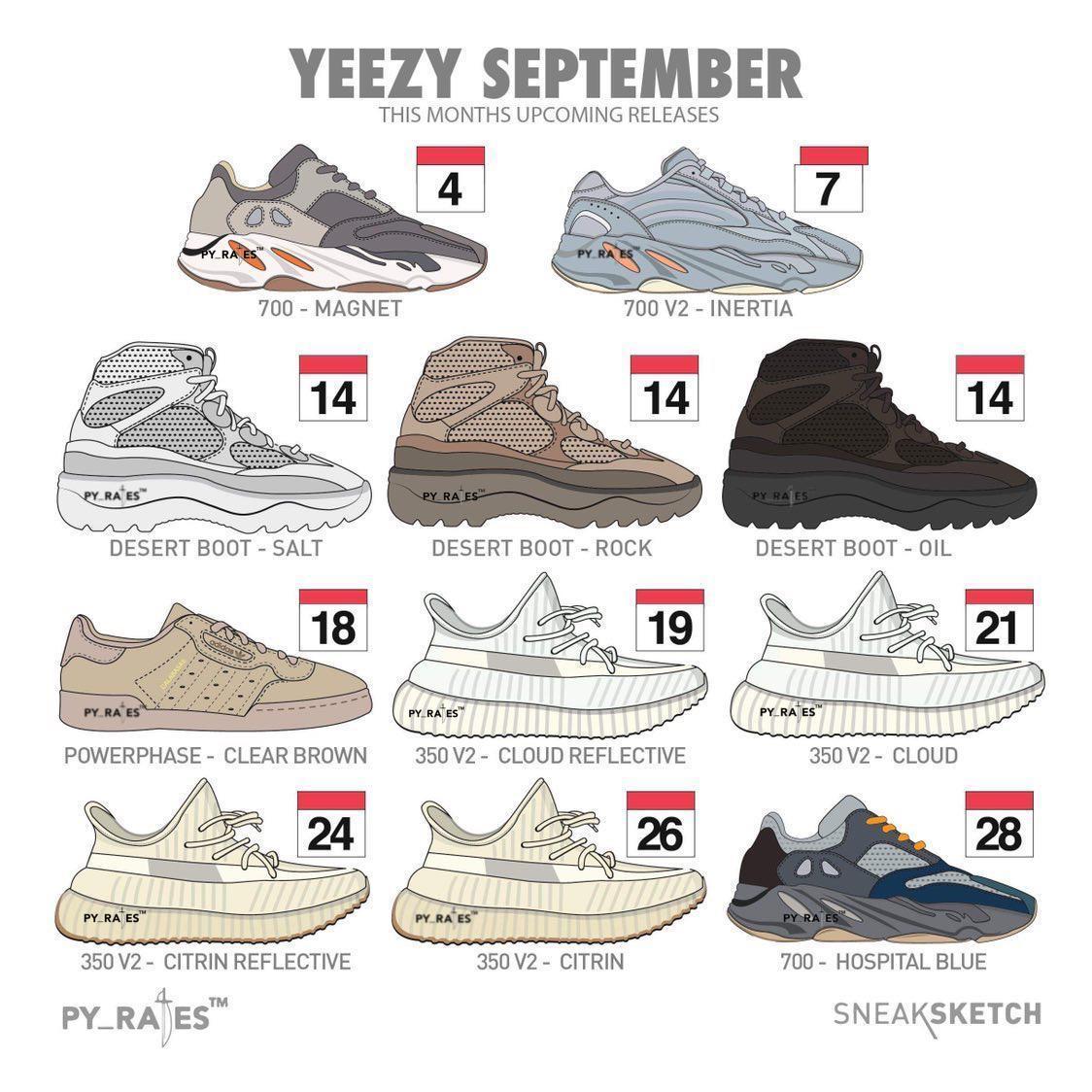 adidas Yeezy September 2019 Release Date Info