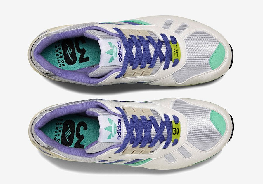 adidas ZX 7000 White Lilac Green FU8404 Release Date Info