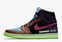 Air Jordan 1 Bio Hack Undefeated Dunk Baroque Brown 555088-201