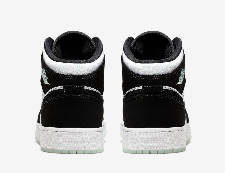 Air Jordan 1 Mid GS Panda White Black Teal Tint BQ6931-103 Release Date Info