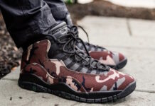 Air Jordan 10 Woodland Camo 310805-201 On Feet