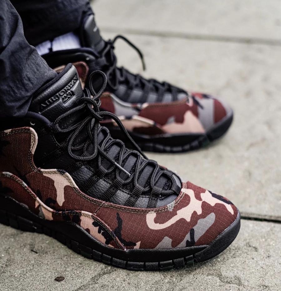 Air Jordan 10 Woodland Camo 310805-201 On Feet