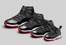 Air Jordan 11 Bred 2019 Retro Family Sizes