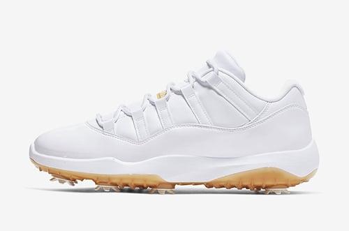 Air Jordan 11 Low Golf White Metallic Gold Release Date
