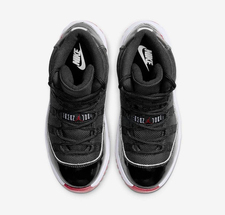 Air Jordan 11 Preschool Bred 378039-061 Release Date