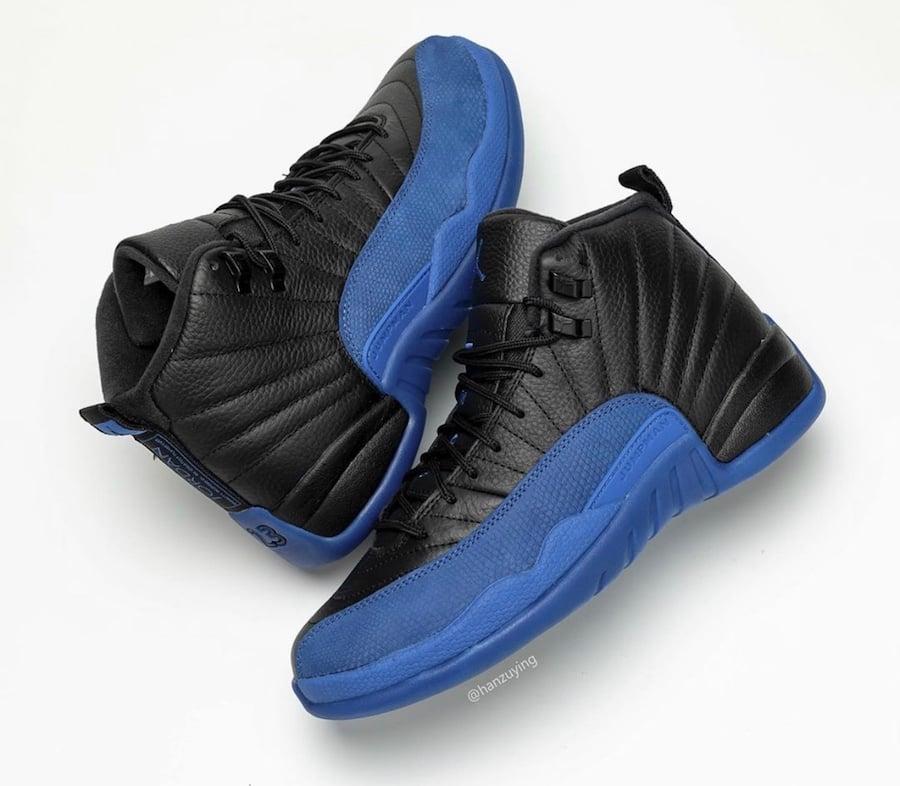 Air Jordan 12 Black Game Royal 130690-014 Release
