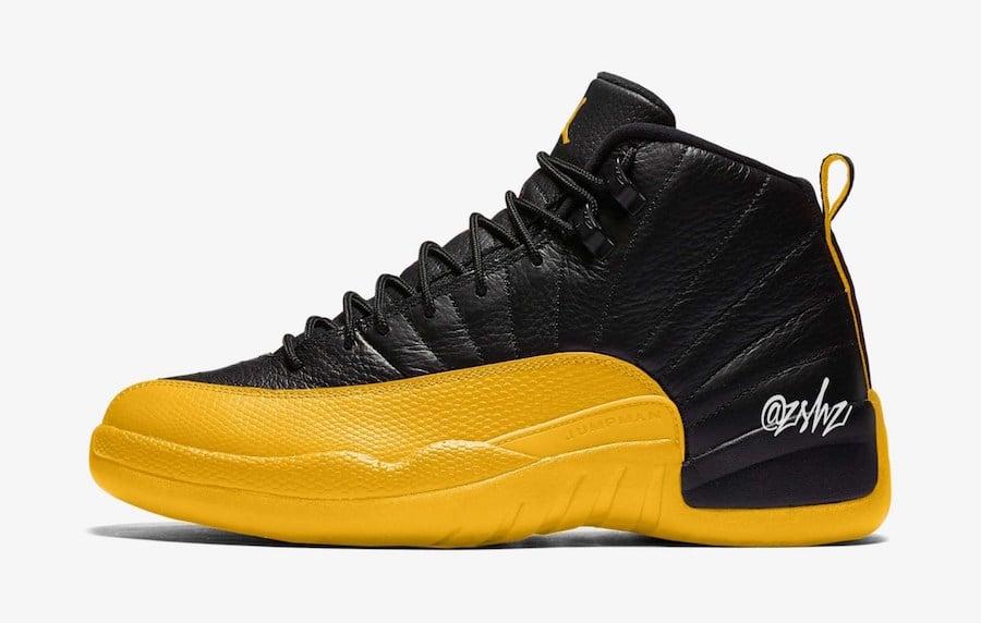 Air Jordan 12 Black University Gold 130690-070 Release Date Info