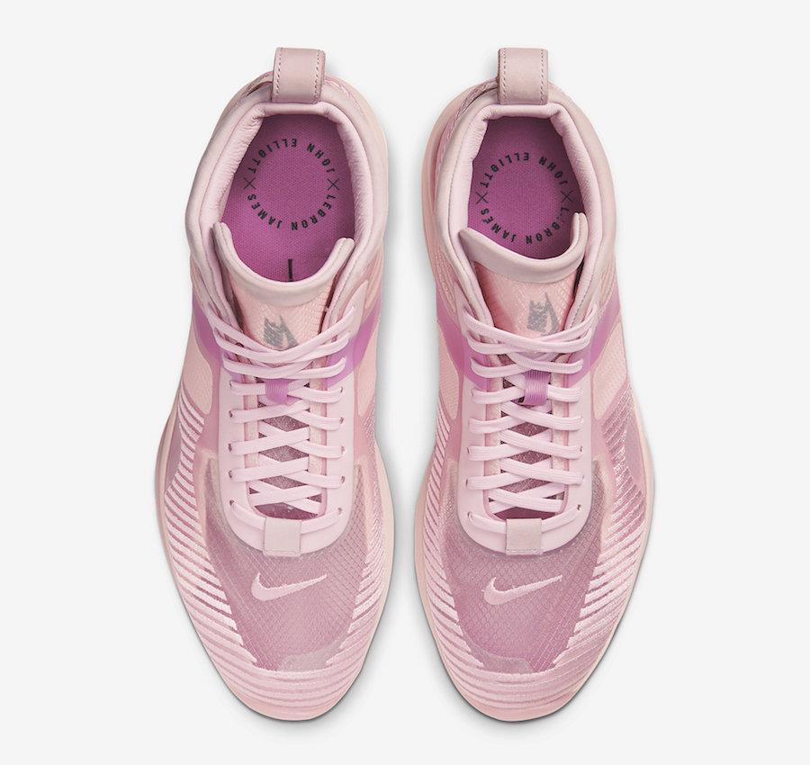 John Elliott Nike LeBron Icon Tulip Pink Wolf Grey Active Fuchsia AQ0114-600 Release Date