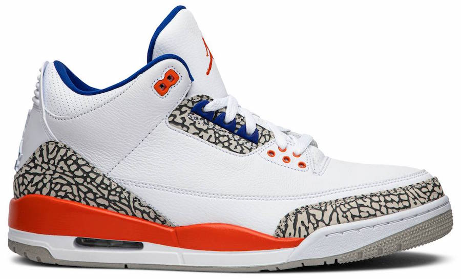 Knicks Air Jordan 3 136064-148 2019 Release Date