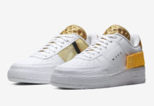 Nike AF1 Type White Gold Yellow AT7859-100 Release Date Info