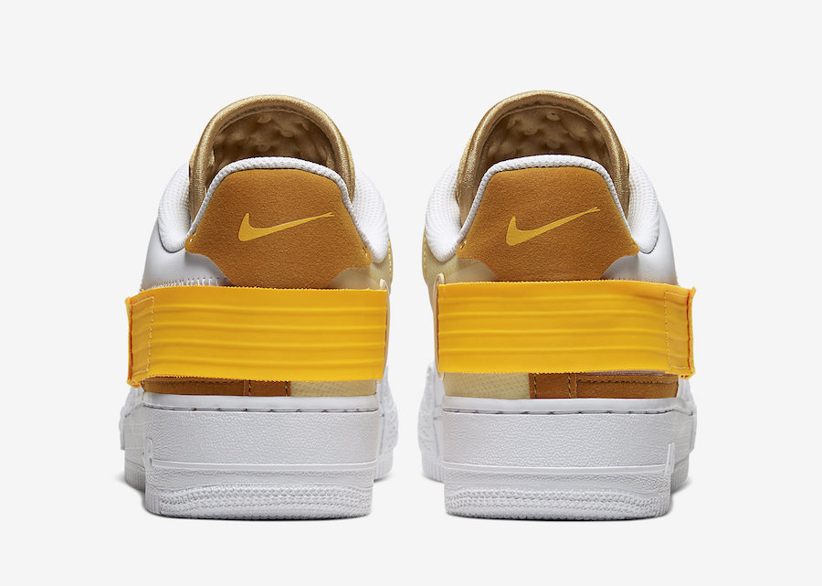 Nike AF1 Type White Gold Yellow AT7859 100 Release Date Info