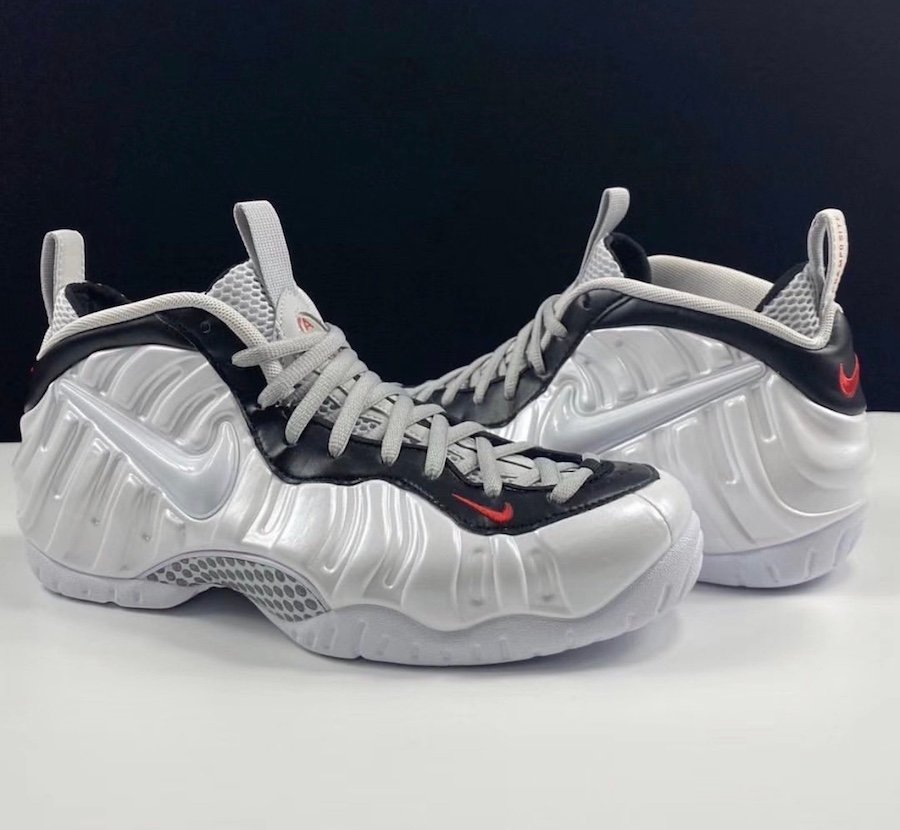 Nike Air Foamposite Pro White Black University Red 624041-103 Release Date