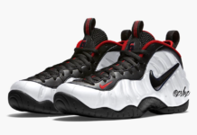 Nike Air Foamposite Pro White Black University Red 624041-103 Release Date Info
