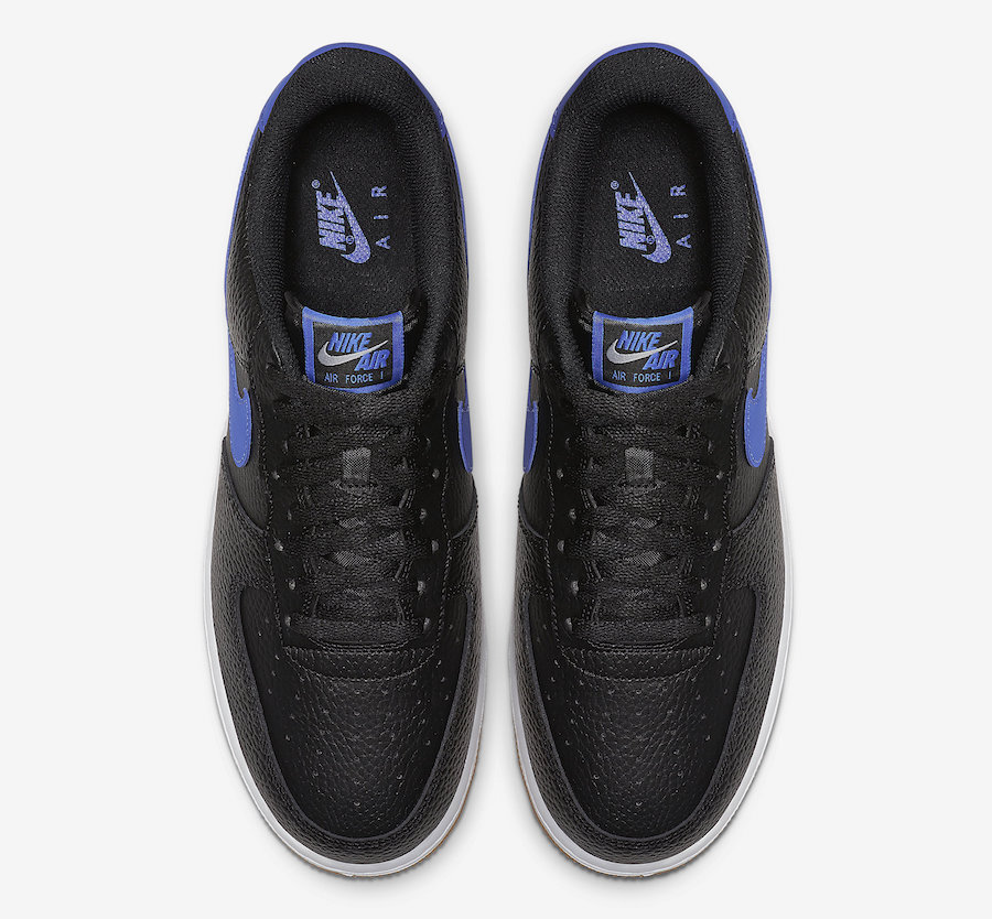 Nike Air Force 1 Black Game Royal Gum CI0057-001 Release Date Info