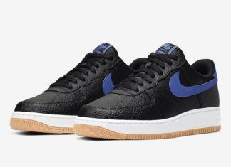 Nike Air Force 1 Black Game Royal Gum CI0057-001 Release Date Info