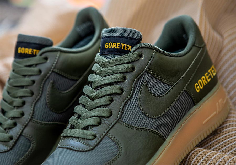 Nike Air Force 1 Low Gore-Tex Olive Green Gum Release Date