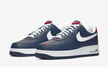 Nike Air Force 1 Low Obsidian University Red White CI8731-400 Release Date Info