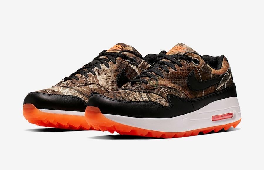 Nike Air Max 1 Golf Realtree Camo BQ4804-210 Release Date Info
