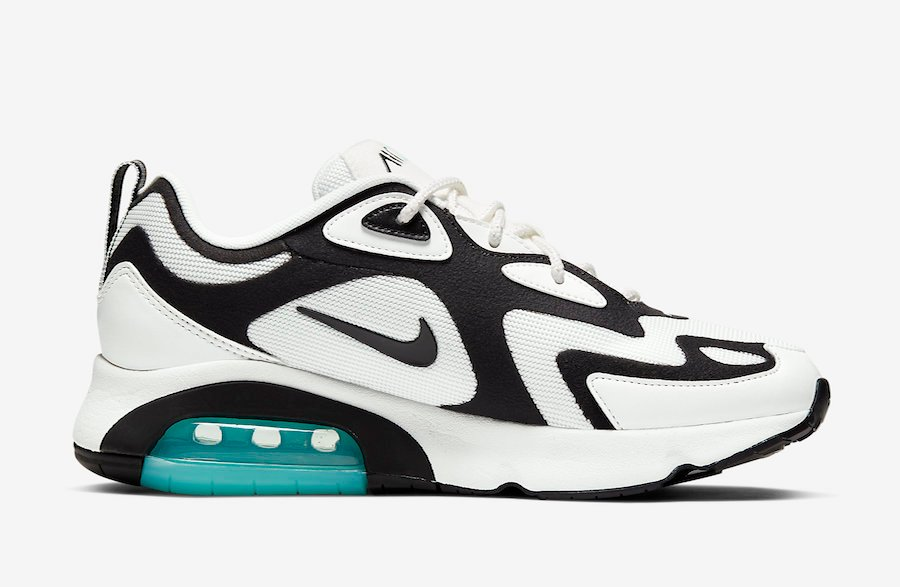 Nike Air Max 200 White Black Teal AT6175-105 Release Date Info