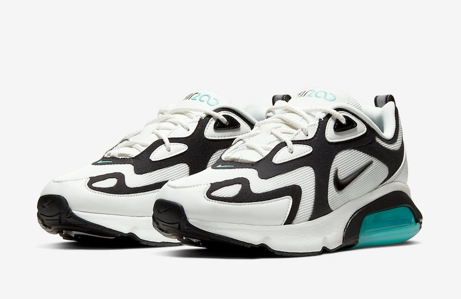 Nike Air Max 200 White Black Teal AT6175-105 Release Date Info ...