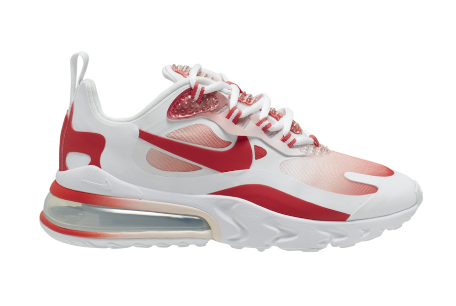 Nike Air Max 270 React Bubble Wrap Red Av3387 100 Release Date Info Sneakerfiles
