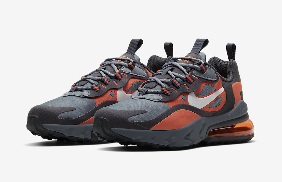 Nike Air Max 270 React Grey Orange BQ0103-006 Release Date Info | SneakerFiles
